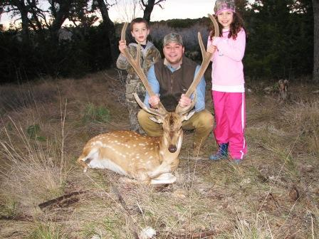 36inch Axis Buck. It is a family affair!